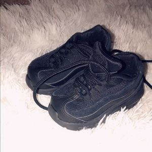 Size 5c all black Nike Air Max 95's